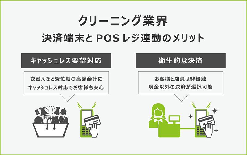 クリーニング業界でのキャッシュレス決済端末とPOSレジをセットにするメリット